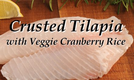 Crusted Tilapia with Veggie Cranberry Rice