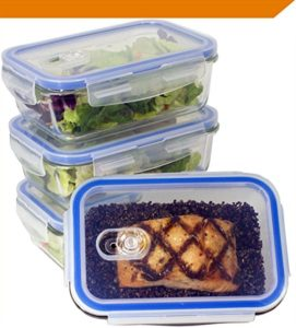 picture of premium food storage glass with snap lids bpa-free kitchen spirit jill reid