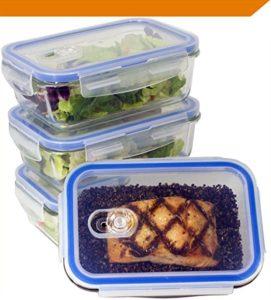 picture of premium food storage glass with snap lids bpa-free kitchen spirit jill reid