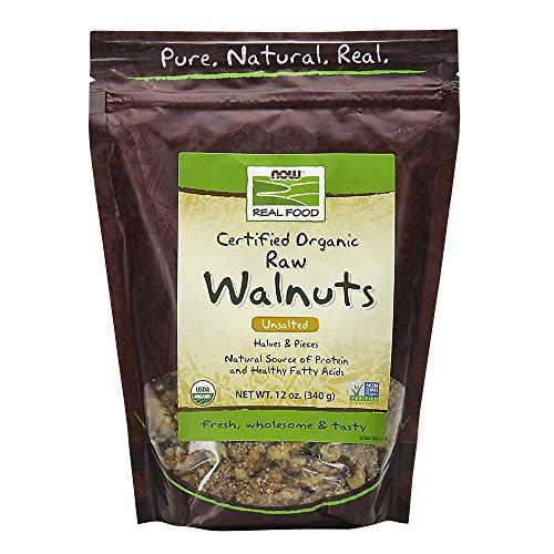 NOW food raw organic walnuts