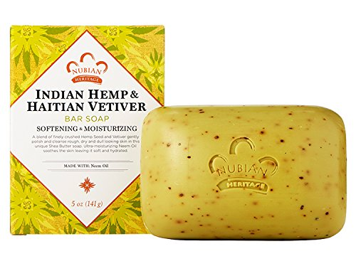 Nubian Indian Hemp and haitian vetiver soap