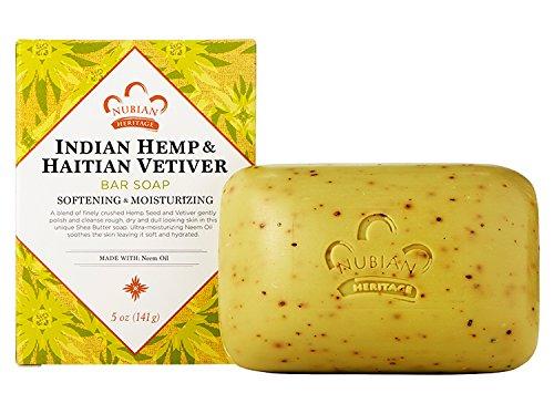 Nubian Indian Hemp and haitian vetiver soap