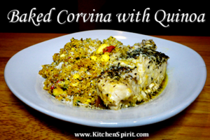 Baked Corvina with Quinoa Jill Reid Kitchen Spirit