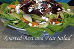 roasted beet and pear salad jill reid kitchen spirit