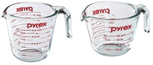 Pyrex 2-Pc glass measuring cups
