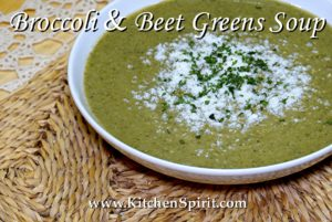 broccoli and beet greens soup jill reid kitchen spirit