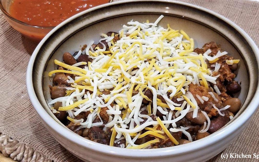 Organic Turkey Chili with Beans