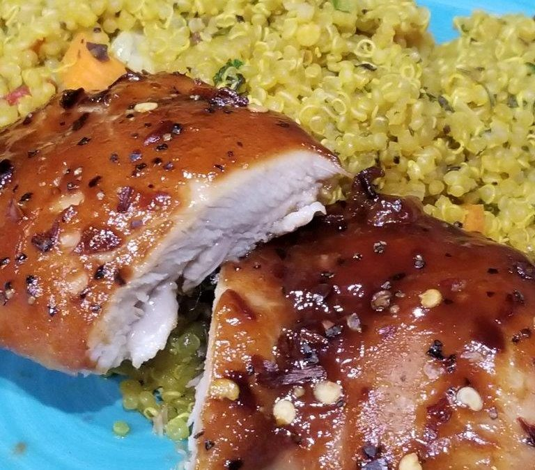 Honey BBQ Chicken Thighs